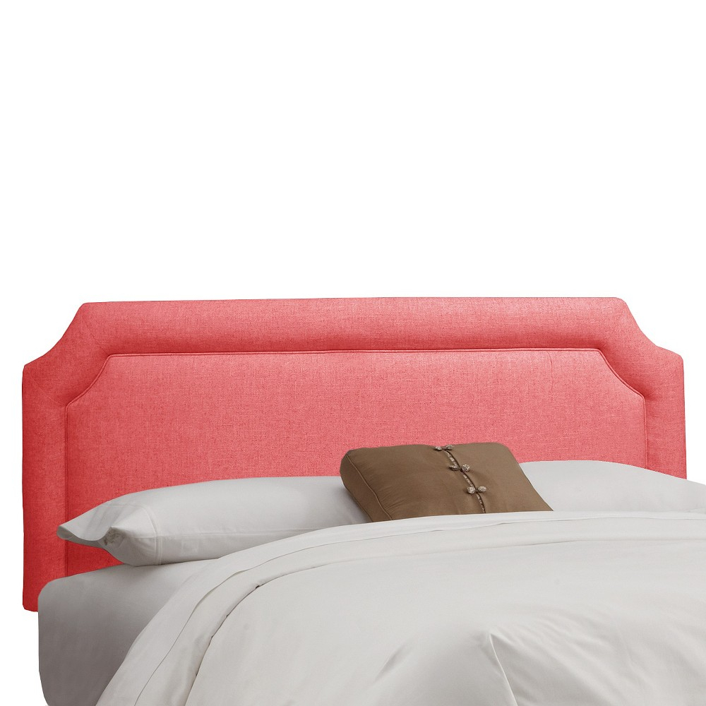 Full Clarendon Notched Headboard Coral (Pink) - Skyline Furniture