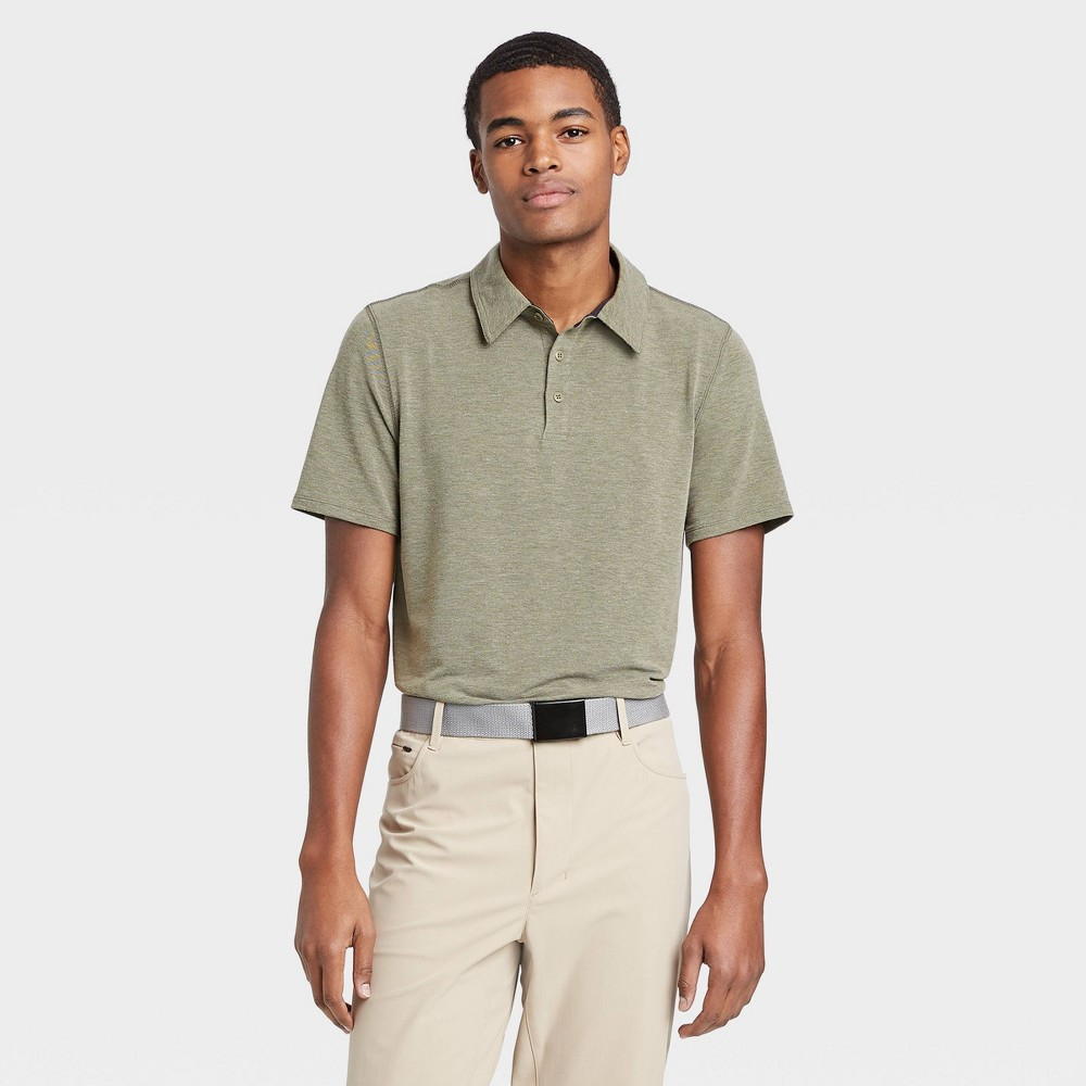 Men's Pique Golf Polo Shirt - All in Motion Olive Green XXL, Men's, Green Green was $22.0 now $12.0 (45.0% off)
