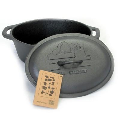 Old Mountain Pre-Seasoned Cast Iron 4 Quart Covered Casserole Pot