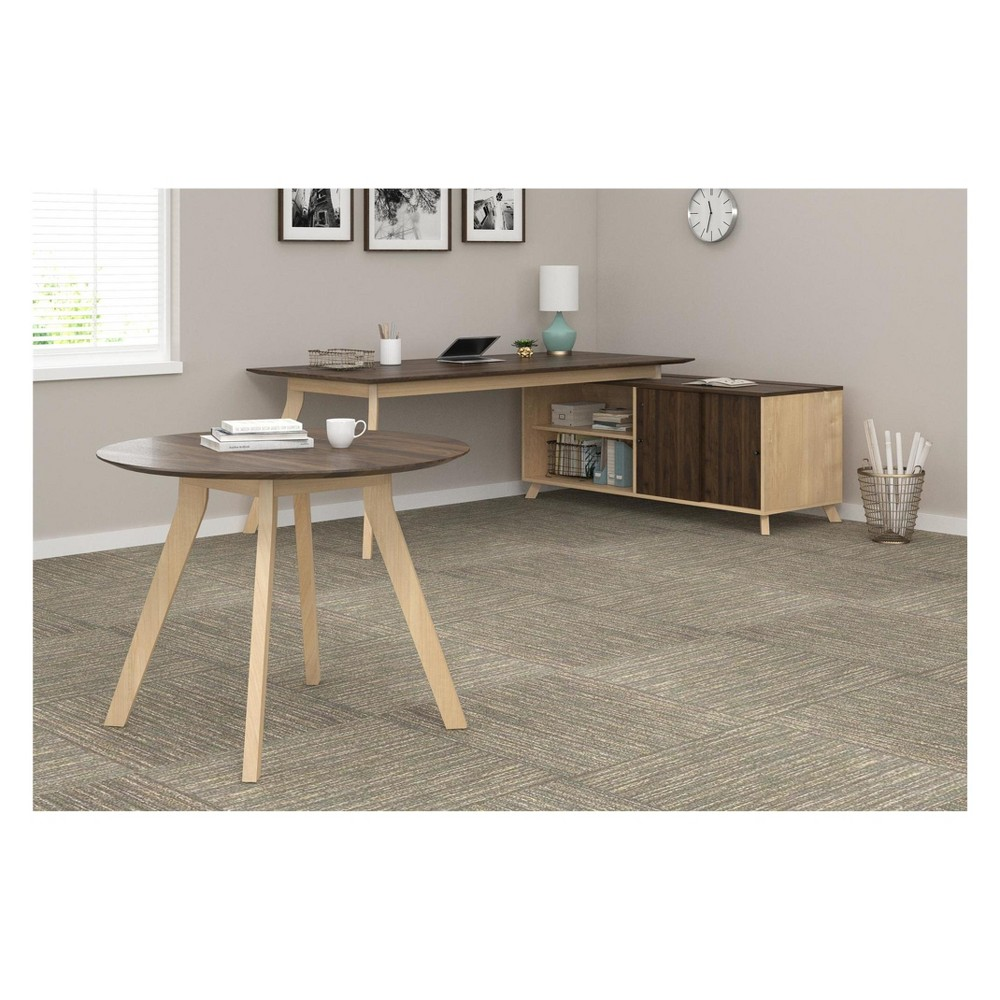Executive Desk And Meeting Table Bundle Walnut - Ameriwood Home
