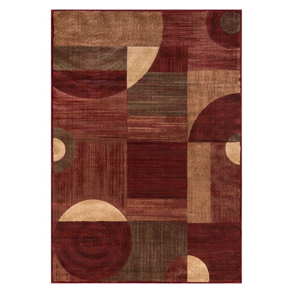 2'X3' Geometric Loomed Accent Rug Red - Momeni