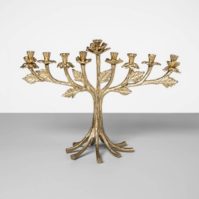 14.7  x 10.5  Cast Brass Menorah Gold - Opalhouse™