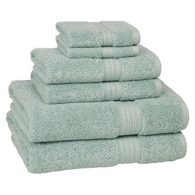 Kassadesign Solid Bath Towel Set 6pc Robins Egg Blue - Kassatex