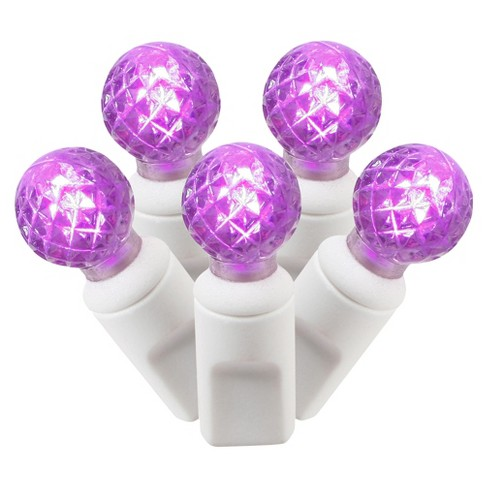 "100ct LED Faceted String Light Set - Purple (4""x34'L) - image 1 of 1"