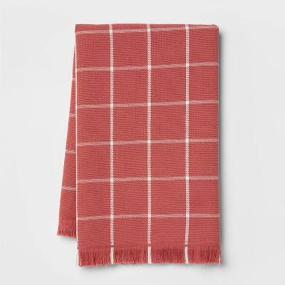 Cotton Terry Kitchen Towel with Fringe Red - Threshold™