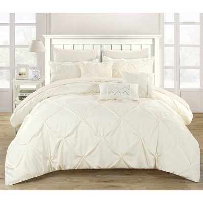 King 10pc Valentina Comforter Set Beige - Chic Home Design
