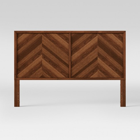 King Headboard Rochester Parquet Brown - Threshold™ - image 1 of 4