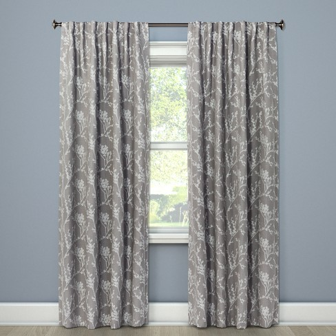 Blackout Curtain Panel Gray 84 Quot Threshold Target