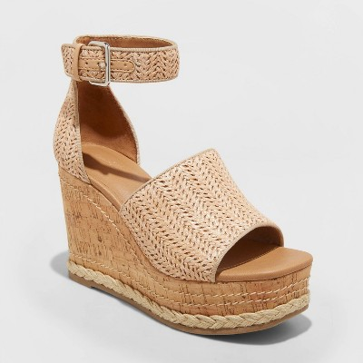 Women's Julianna Cork Wedge Heels - Universal Thread™