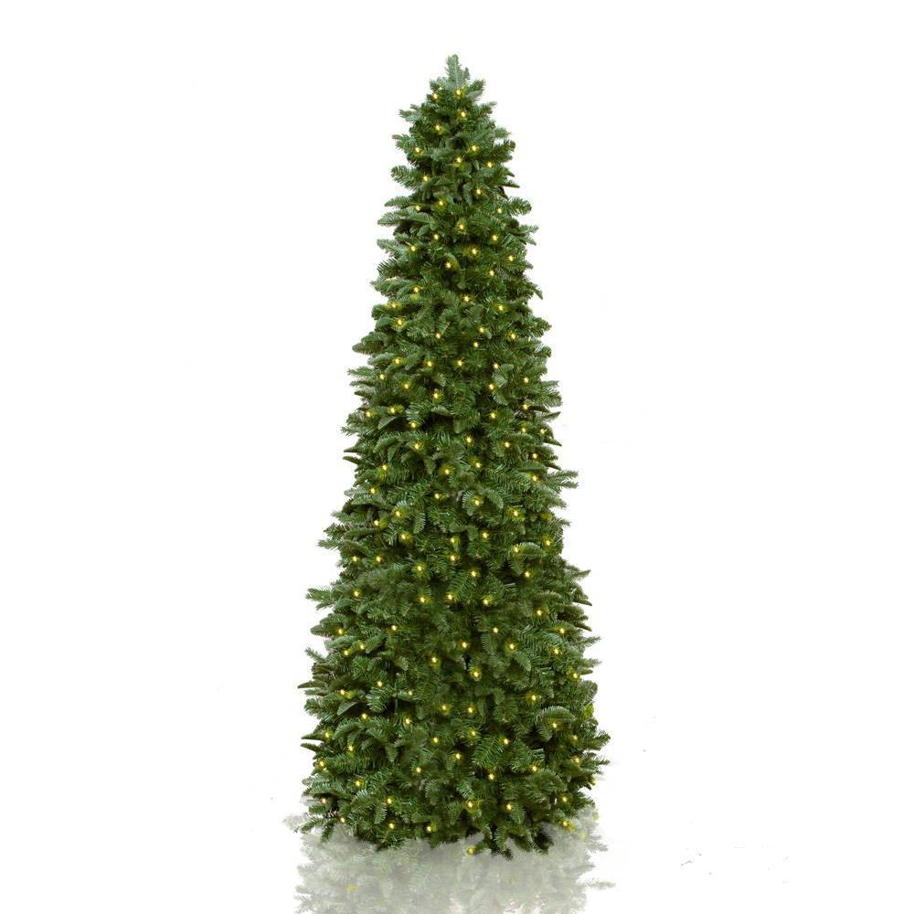 Image of 7.5ft Pre-lit LED Slim Natural Classic Artificial Christmas Tree - Easy Treezy, Green