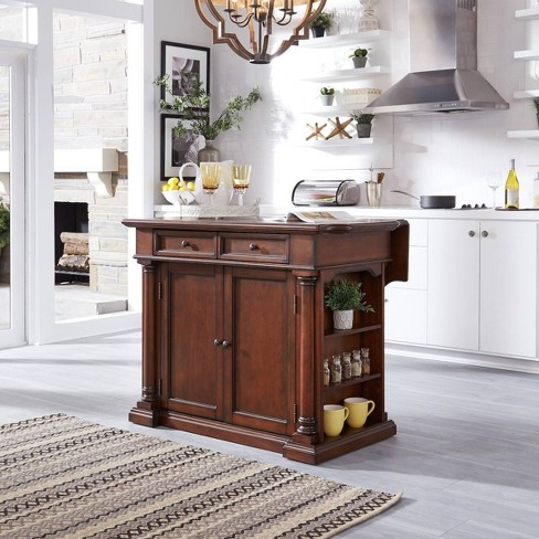 Beacon Hill Solid Wood Top Kitchen Island Cherry - Home Styles