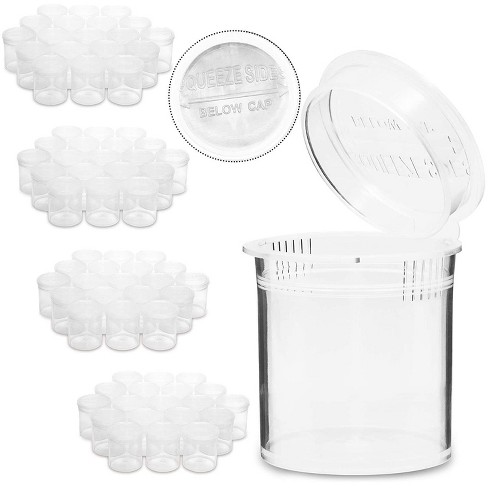 580 Count Medicine Pill Bottles Containers with Pop Top Cap for Prescription (6 Dram, Clear) - image 1 of 4