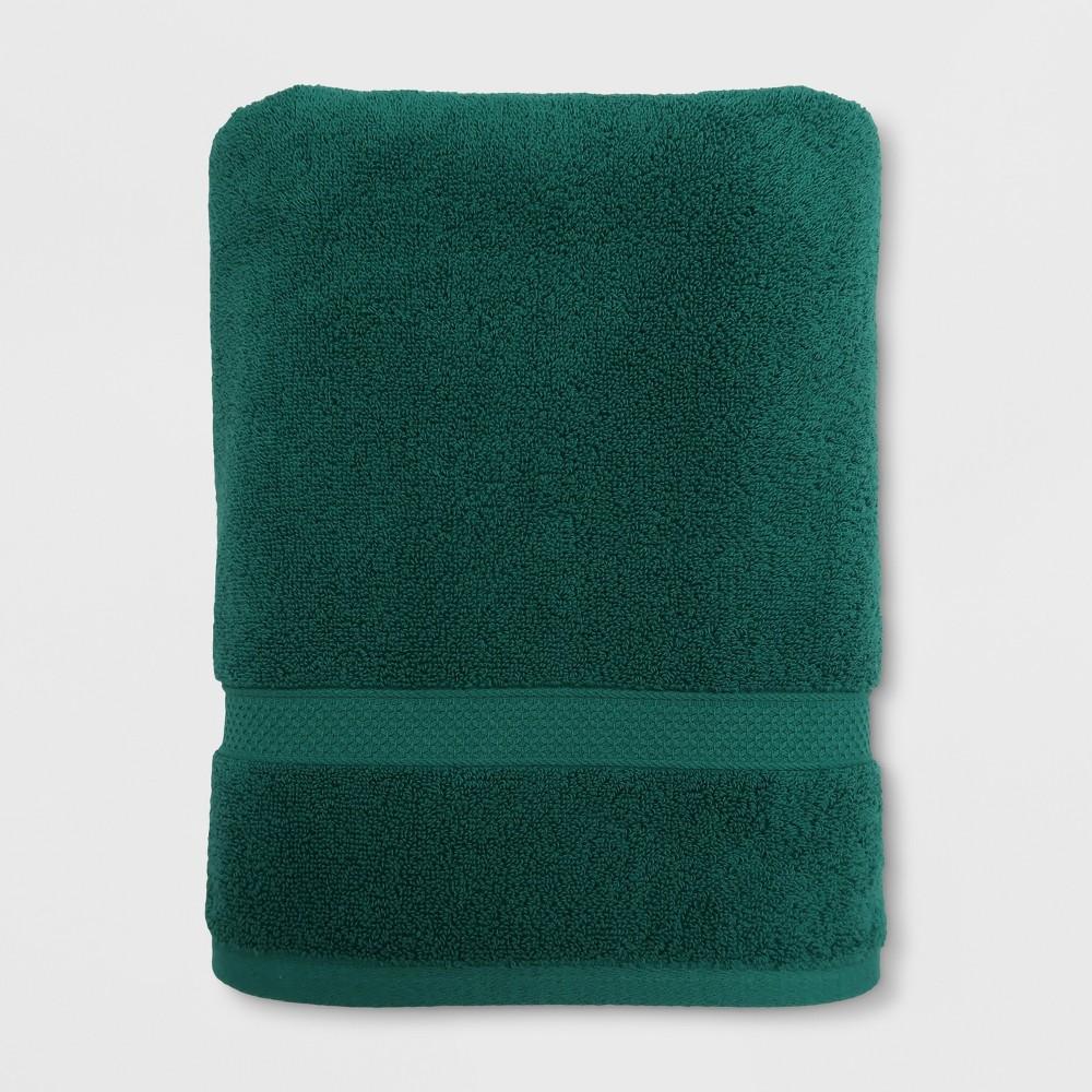 Soft Solid Bath Towel Dark Green - Opalhouse