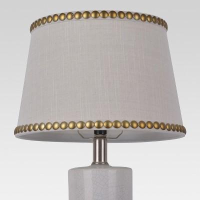 Nailhead Trim Small Lamp Shade Cream - Threshold™
