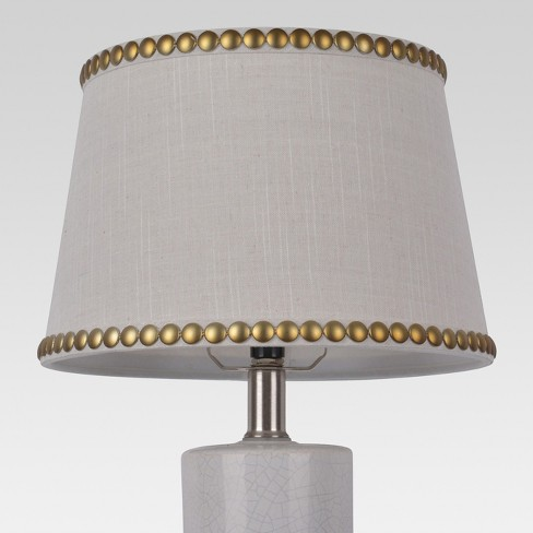 Nailhead Trim Lamp Shade Cream Threshold
