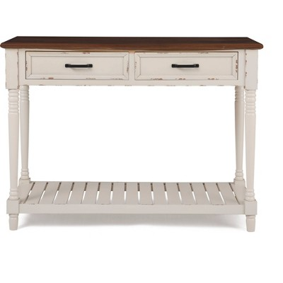 Baker Console Table Antique White - ClickDecor