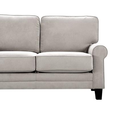 """61"""" Round Copenhagen Arm Fabric Loveseat with Storage - Serta"""
