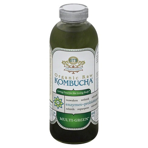 G.T.'s Enlightened Multi-Green Organic Raw Kombucha - 16 fl oz Bottle - image 1 of 1