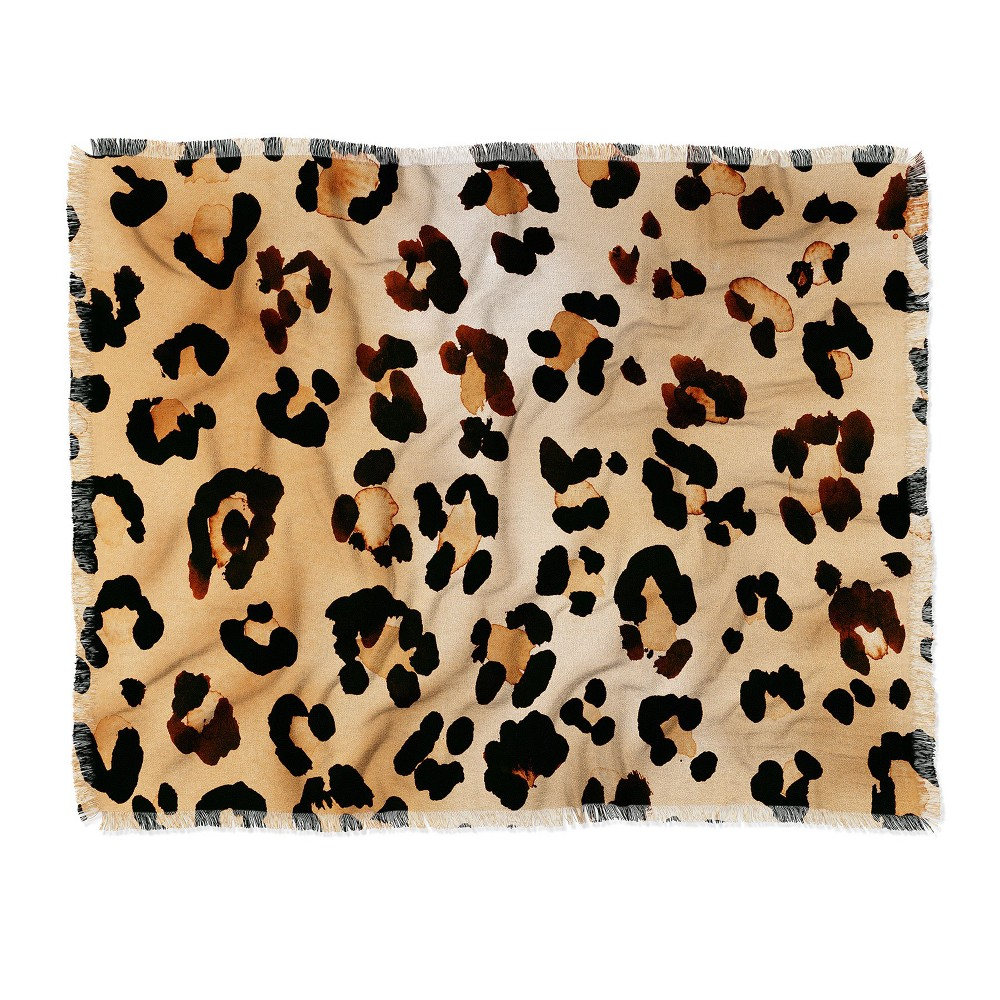 Amy Sia Animal Leopard Brown Throw Blanket Brown - Deny Designs Price