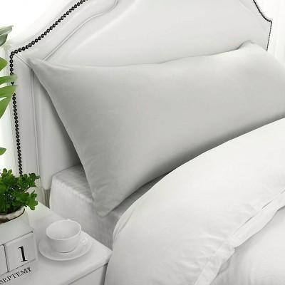 1 Pc Body 1800 Series Soft Brushed Microfiber Pillowcase Light Grey - PiccoCasa