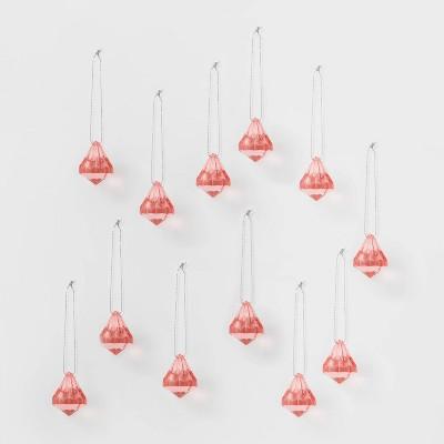 12ct Acrylic Diamond Christmas Ornament Set - Wondershop™