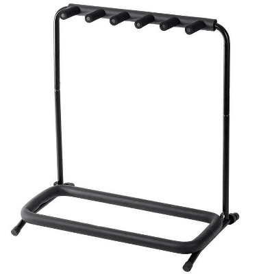 Monoprice Multi Guitar Stand Folding | for 5 Acoustic and Electric Guitar or Bass - Stage Right Series