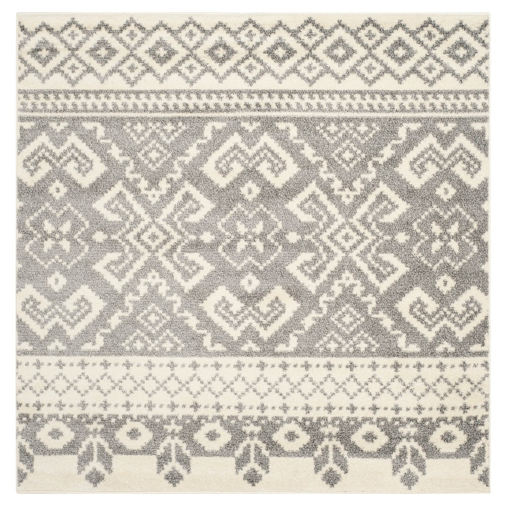 Adron Area Rug - Ivory/Silver (10'x10') - Safavieh