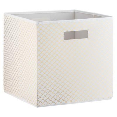 Scallop KD Storage Bin White & Gold - Pillowfort™