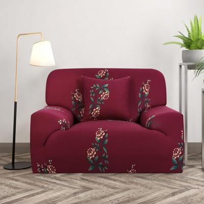 1 Pc Polyester Spandex Stretch Sofa Slipcovers - PiccoCasa