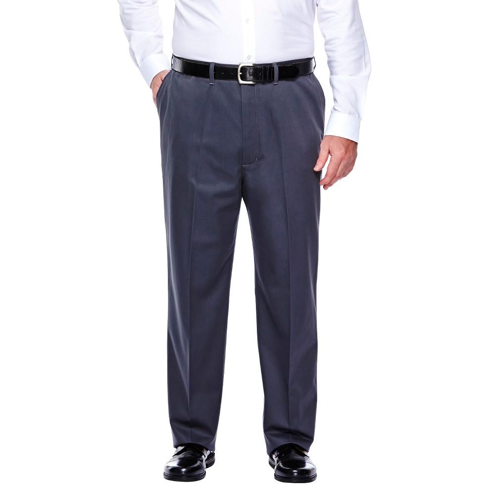 Haggar H26 - Men's Big & Tall No Iron Classic Fit Pants Dusk 50x32, Blue Dusk