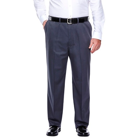 Haggar H26 - Men's Big & Tall No Iron Classic Fit Pants Dusk 52x32 - image 1 of 2