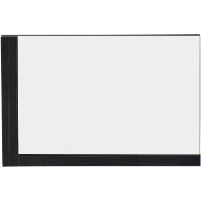 "35.5"" D1 Modern Plywood Melamine Mirror Dark Gray - American Imaginations"