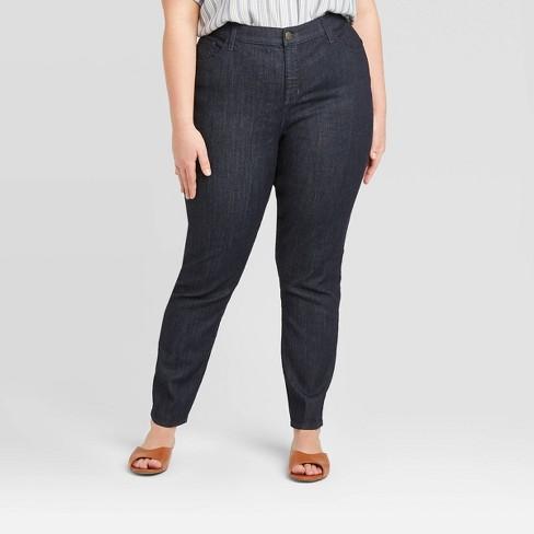 Women's Mid-Rise Skinny Jeans - Universal Thread™ Rinse (Regular & Plus) - image 1 of 3