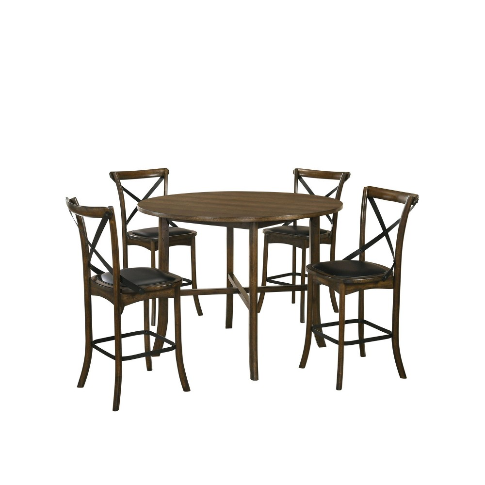 Coupons 5pc Somers Counter Height Round Dining Set Oak - HOMES: Inside + Out