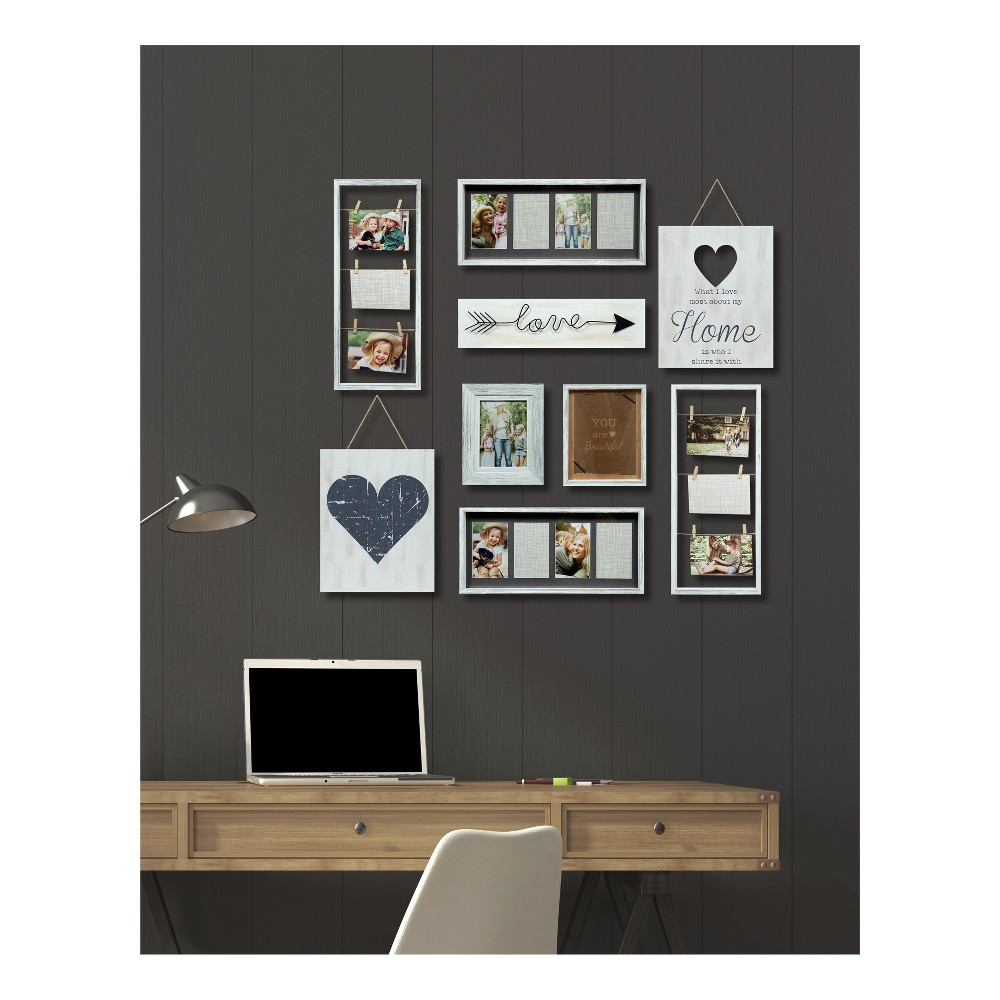 Image of Heart Decor Frame 9pc Kit - Gallery Solutions