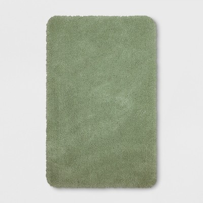 37 x23  Performance Nylon Bath Rug Dark Sage Green - Threshold™