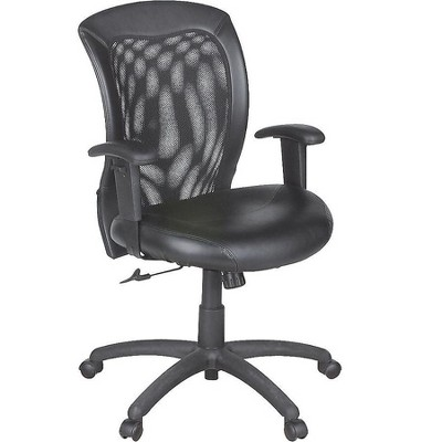 Global Airflow Mesh Back Leather Manager Chair Black (9339BK) 492943
