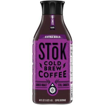 SToK Extra Bold Unsweetened Cold Brew Coffee - 48 fl oz Bottle