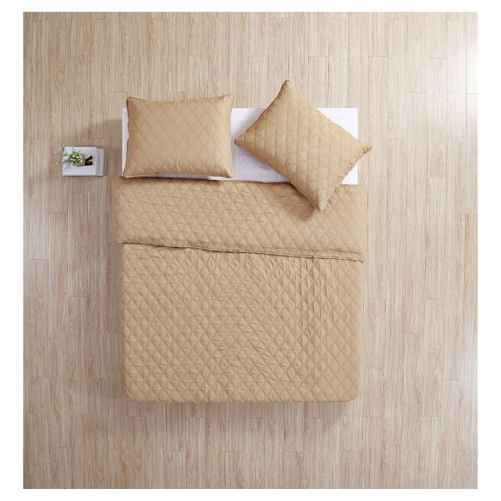 Sand (Brown) Buckingham Diamond Quilt Set (Full/Queen) - Vcny