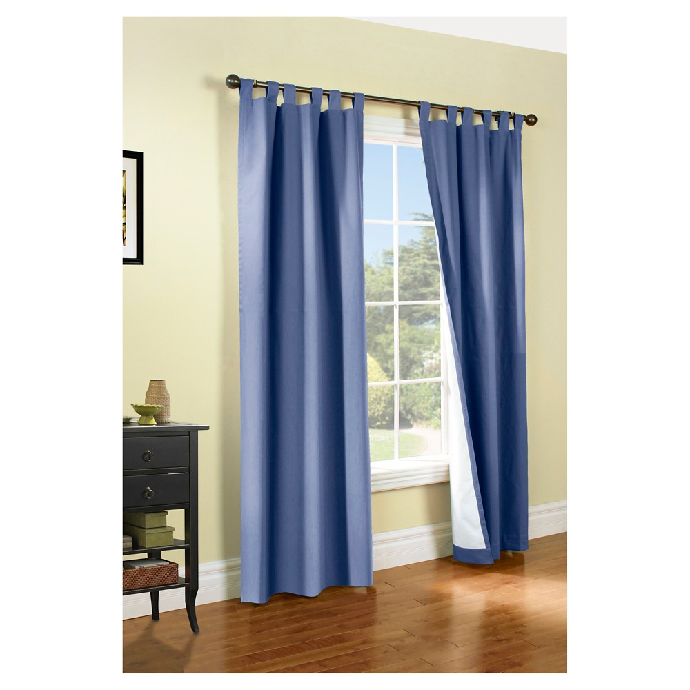 Weathermate Tab Curtain Panel Pair - Blue (80 x 63)