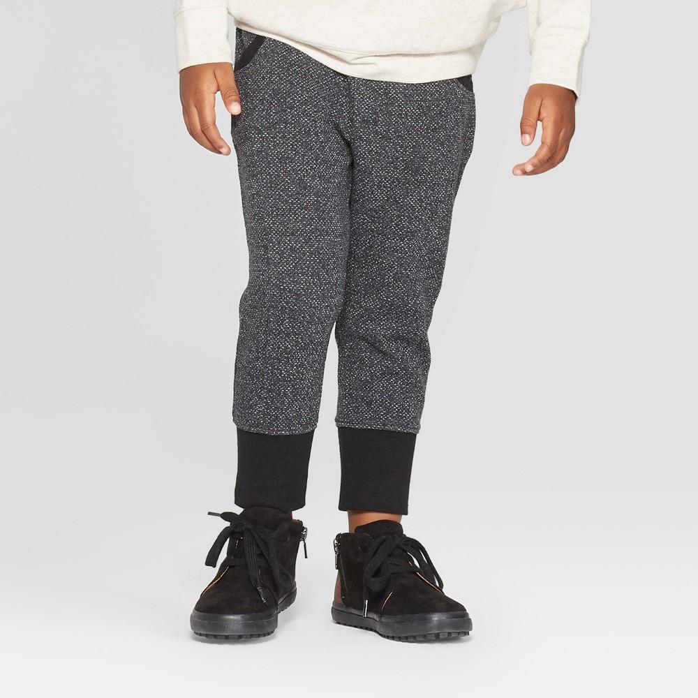 Toddler Boys' Front Seam Jogger Pants - Cat & Jack Black 18M