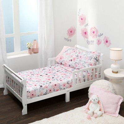 Bedtime Originals Blossom 4-Piece Toddler Bedding Set - Pink, Garden, Floral