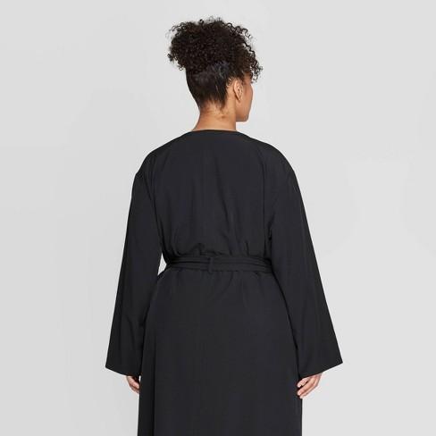 c61876011b3621 Women s Plus Size Long Sleeve Open-Front Over Coat - Prologue™ Black ...