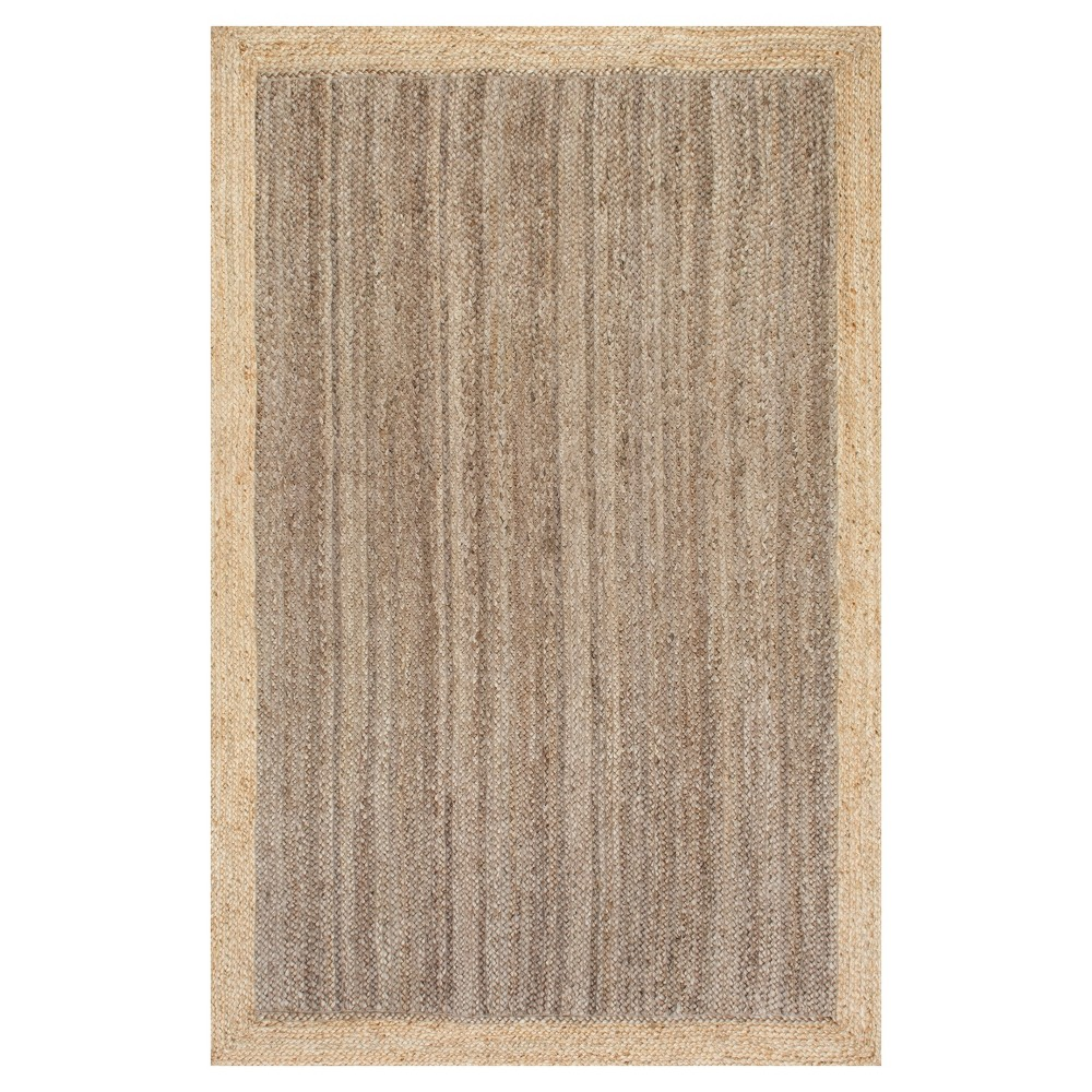 Sterling Gray Solid Loomed Area Rug - (6'x9') - nuLOOM