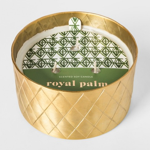 etched patterned tin candle 13oz royal palm target