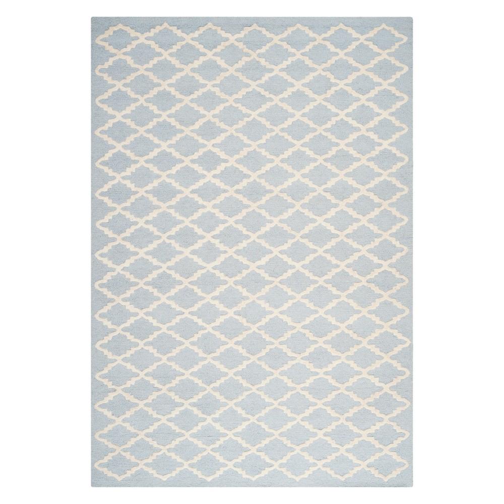 4'X6' Geometric Area Rug Light Blue/Ivory - Safavieh