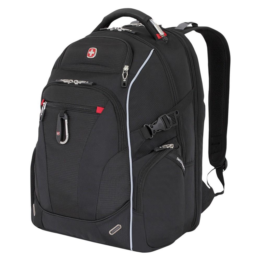 """Image of """"SWISSGEAR 17.5"""""""" Scan Smart TSA Laptop Backpack - Black"""""""