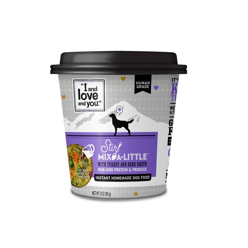 I and Love and You Stir Mix-a-Little Wet Dog Food with Turkey & Bone Broth - 3oz