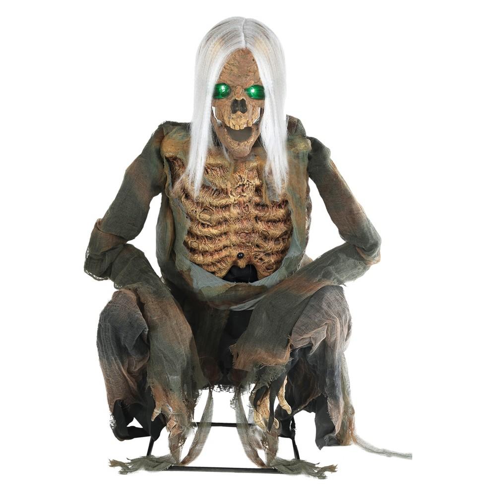 """Image of """"36"""""""" Halloween Animated Crouching Bones Prop"""""""