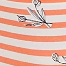 Orange Stripe Floral